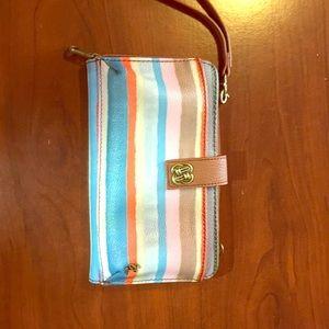 Handbags - Beautiful striped roomy wristlet / wallet